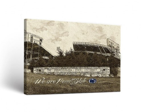 Penn State Nittany Lions Sketch Canvas Wall Art