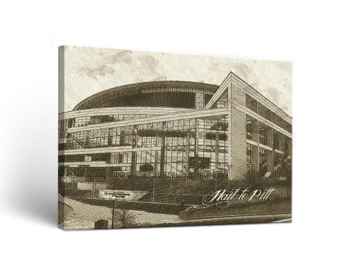 Pittsburgh Panthers Sketch Canvas Wall Art