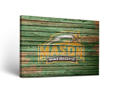 George Mason Patriots Weathered Canvas Wall Art