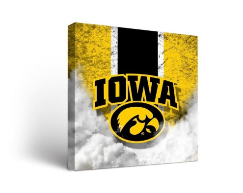 Iowa Hawkeyes Vintage Canvas Wall Art