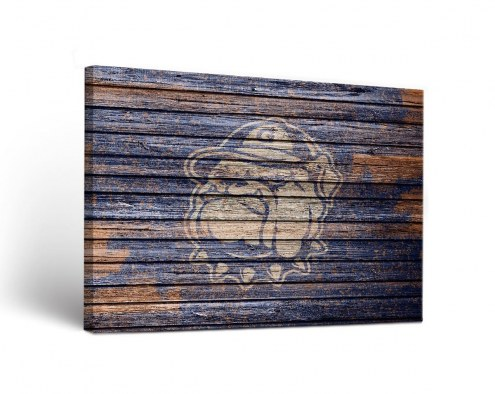 Georgetown Hoyas Weathered Canvas Wall Art