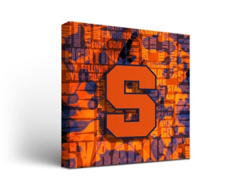 Syracuse Orange Fight Song Canvas Wall Art