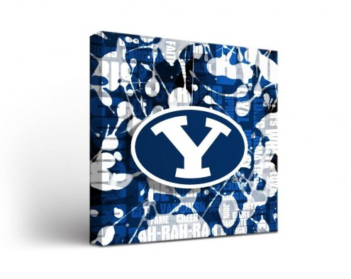BYU Cougars Fight Song Canvas Wall Art
