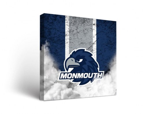 Monmouth Hawks Vintage Canvas Wall Art