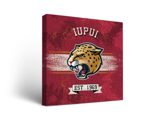 IUPUI Jaguars Banner Canvas Wall Art
