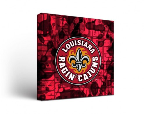 Louisiana Lafayette Ragin' Cajuns Fight Song Canvas Wall Art