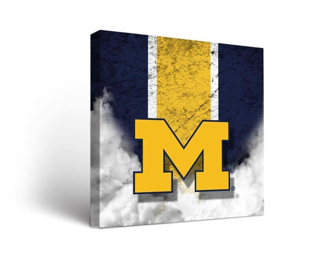 Michigan Wolverines Vintage Canvas Wall Art