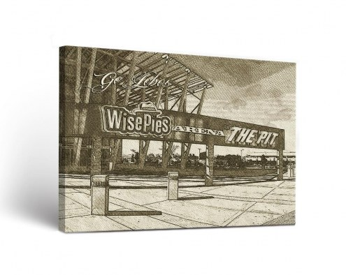 New Mexico Lobos Sketch Canvas Wall Art