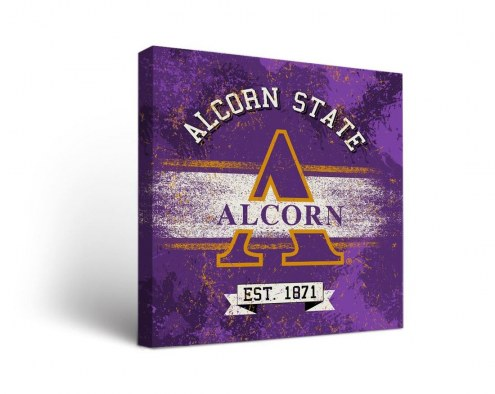 Alcorn State Braves Banner Canvas Wall Art