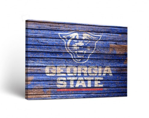 Georgia State Panthers Weathered Canvas Wall Art