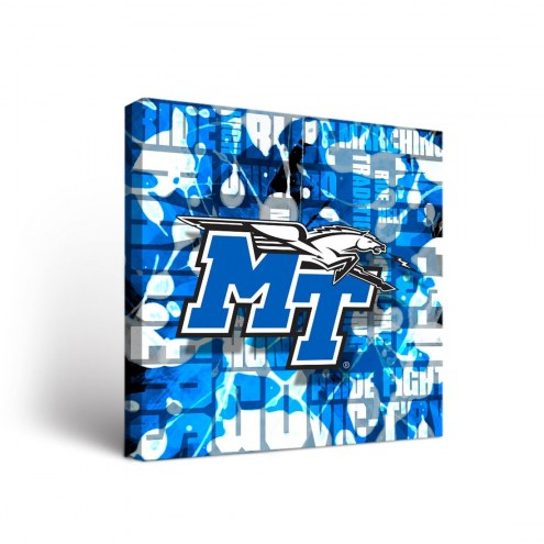 Middle Tennessee State Blue Raiders Fight Song Canvas Wall Art