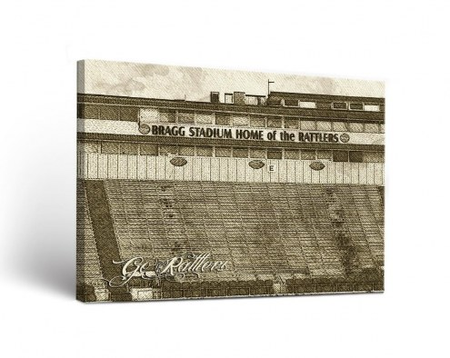 Florida A&M Rattlers Sketch Canvas Wall Art