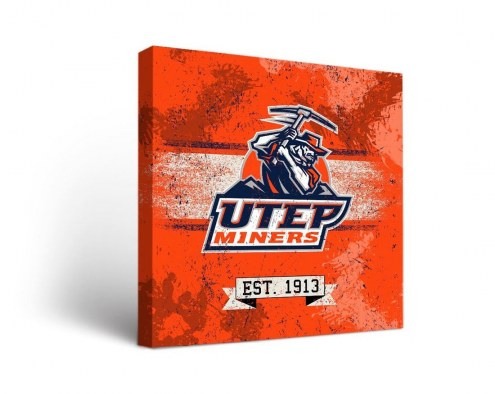 UTEP Miners Banner Canvas Wall Art