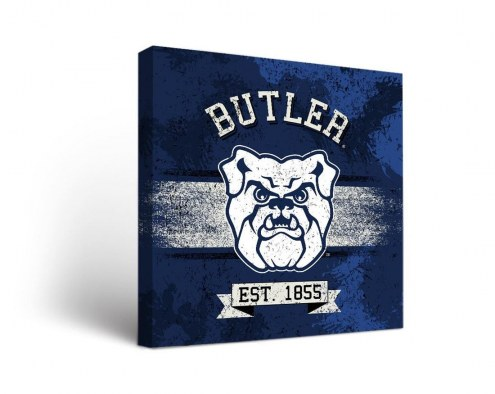 Butler Bulldogs Banner Canvas Wall Art