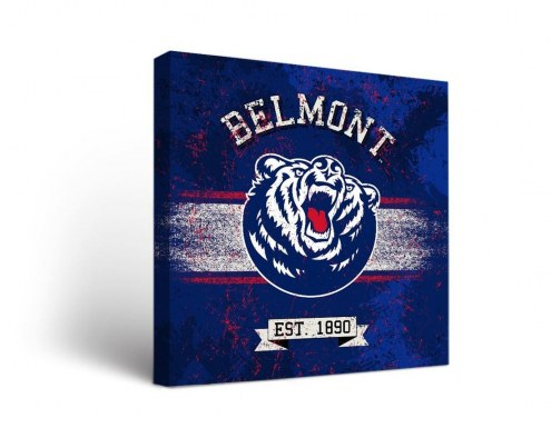 Belmont Bruins Banner Canvas Wall Art