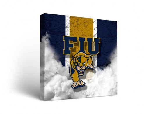 Florida International Golden Panthers Vintage Canvas Wall Art