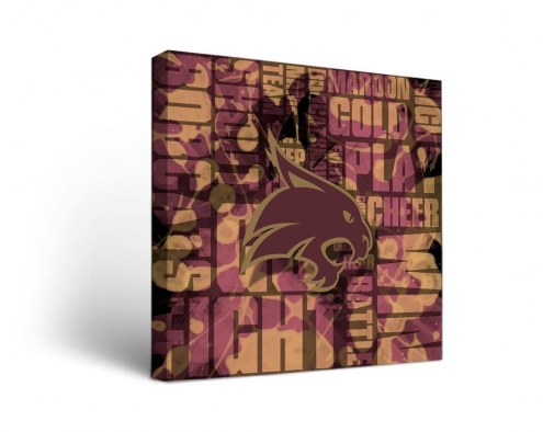 Texas State Bobcats Fight Song Canvas Wall Art
