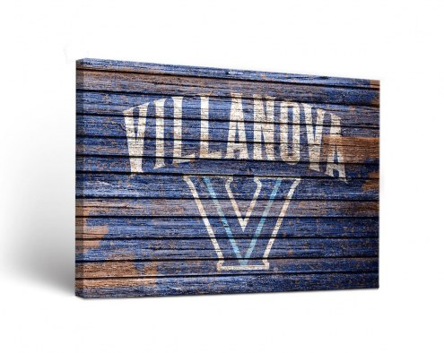 Villanova Wildcats Weathered Canvas Wall Art