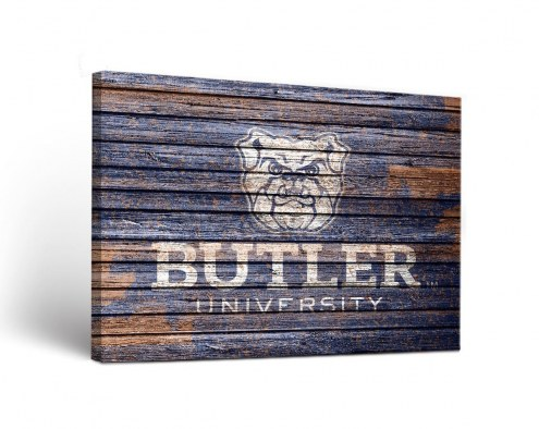 Butler Bulldogs Weathered Canvas Wall Art
