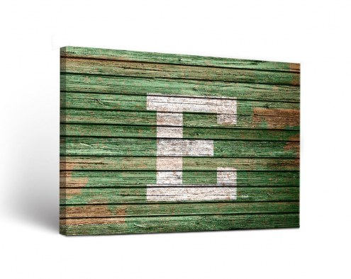 Eastern Michigan Eagles Weathered Canvas Wall Art