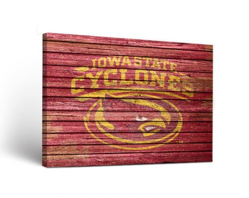 Iowa State Cyclones Weathered Canvas Wall Art