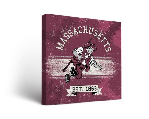 Massachusetts Minutemen Banner Canvas Wall Art