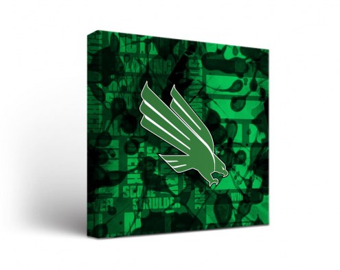 North Texas Mean Green Fight Song Canvas Wall Art