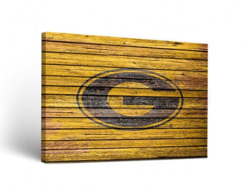 Grambling State Tigers Weathered Canvas Wall Art