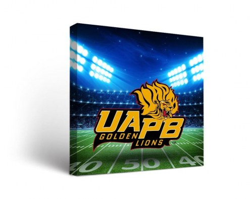 Arkansas-Pine Bluff Golden Lions Stadium Canvas Wall Art