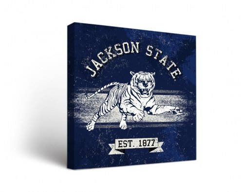 Jackson State Tigers Banner Canvas Wall Art