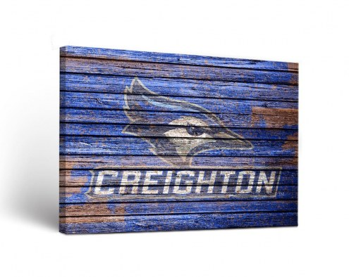 Creighton Bluejays Weathered Canvas Wall Art