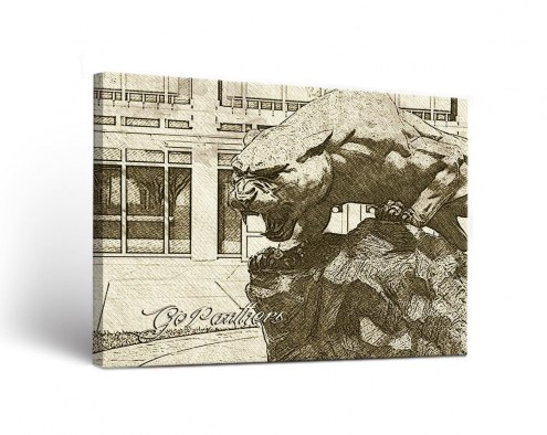 Florida International Golden Panthers Sketch Canvas Wall Art