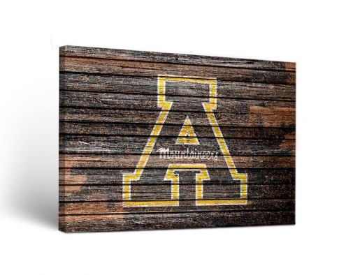 Appalachian State Mountaineers Weathered Canvas Wall Art