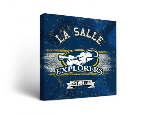 La Salle Explorers Banner Canvas Wall Art