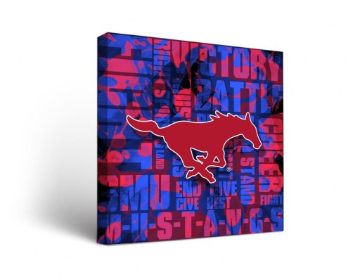 Southern Methodist Mustangs Fight Song Canvas Wall Art