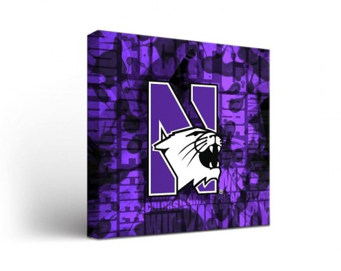 Northwestern Wildcats Fight Song Canvas Wall Art