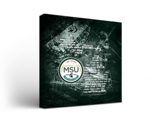 Michigan State Spartans Fight Song 1 Canvas Wall Art