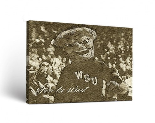 Wichita State Shockers Sketch Canvas Wall Art
