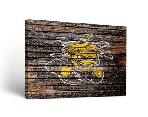 Wichita State Shockers Weathered Canvas Wall Art