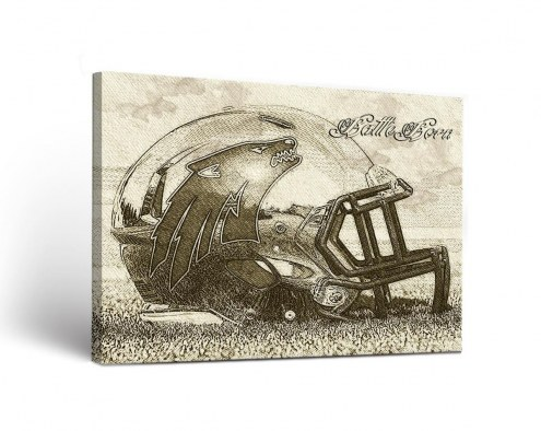 Nevada Wolf Pack Sketch Canvas Wall Art