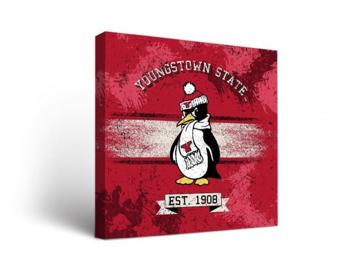 Youngstown State Penguins Banner Canvas Wall Art