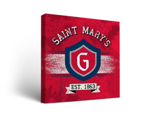 Saint Mary's Gaels Banner Canvas Wall Art