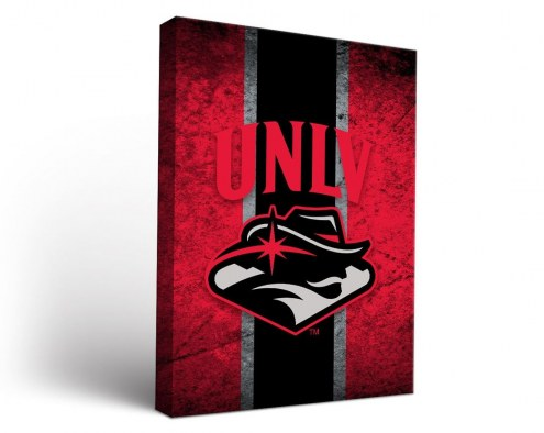 UNLV Rebels Vintage Canvas Wall Art