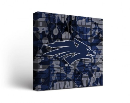 Nevada Wolf Pack Fight Song Canvas Wall Art