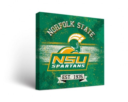 Norfolk State Spartans Banner Canvas Wall Art