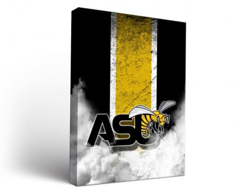 Alabama State Hornets Vintage Canvas Wall Art