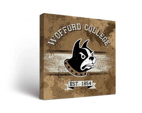Wofford Terriers Banner Canvas Wall Art