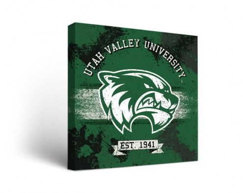 Utah Valley Wolverines Banner Canvas Wall Art