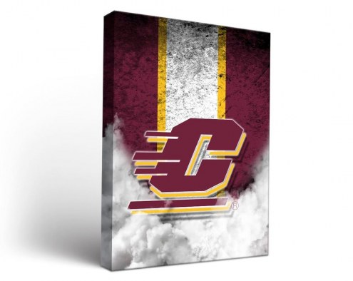 Central Michigan Chippewas Vintage Canvas Wall Art