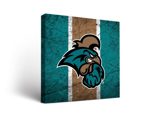 Coastal Carolina Chanticleers Vintage Canvas Wall Art